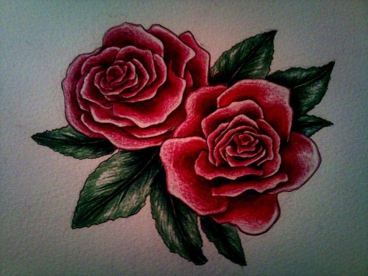 Deep Red Rose Tattoo Ecosia