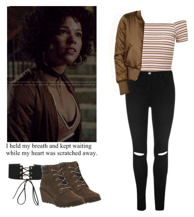 """Maia Roberts - shadowhunters"" by shadyannon ❤ liked on Polyvore featuring Miss Selfridge and Timberland"