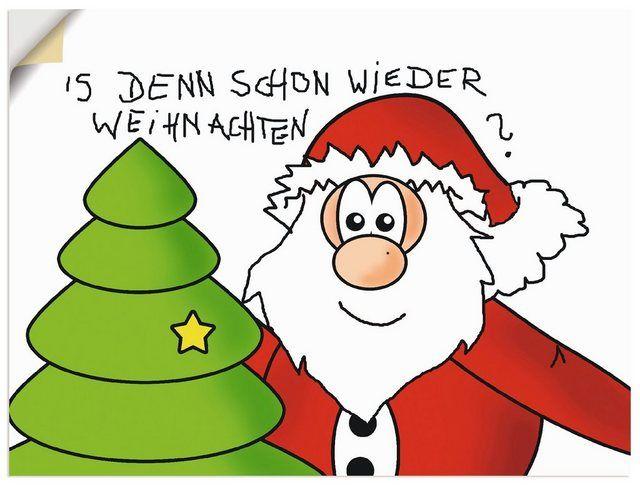 Premium Wandfolie »C. Burlager: Is denn schon wieder Weihnachten«