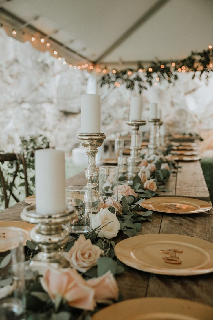 How To Completely Incorporate Your Color Palette Into Your Day Head Table Wedding Sage Green Wedding Wedding Table Decorations