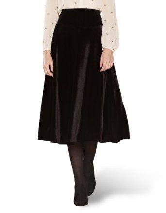 Womens Velvet Skirt 81