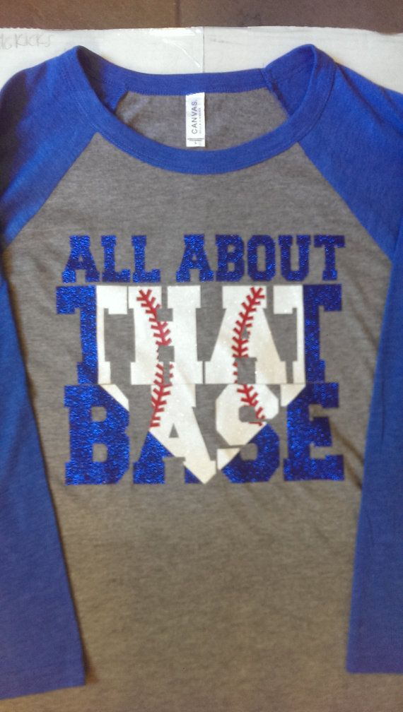 All about that Base 3/4 Sleeve Baseball Tee by FrilleysDesigns