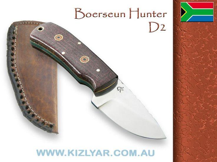 Kappetijn Boerseun Hunter Skinner D2 steel (Hessian Micarta)