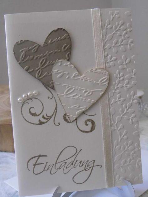 Handgemachte Stampin Up Karte mit Umschlag- Hochzeit,Einladung,Danke,Glückwunsc…