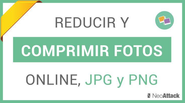 Tutorial para reducir y comprimir fotos e imágenes online sin perder calidad. Programas gratis de compresión de archivos como fotografías en PNG y JPG y PDF.