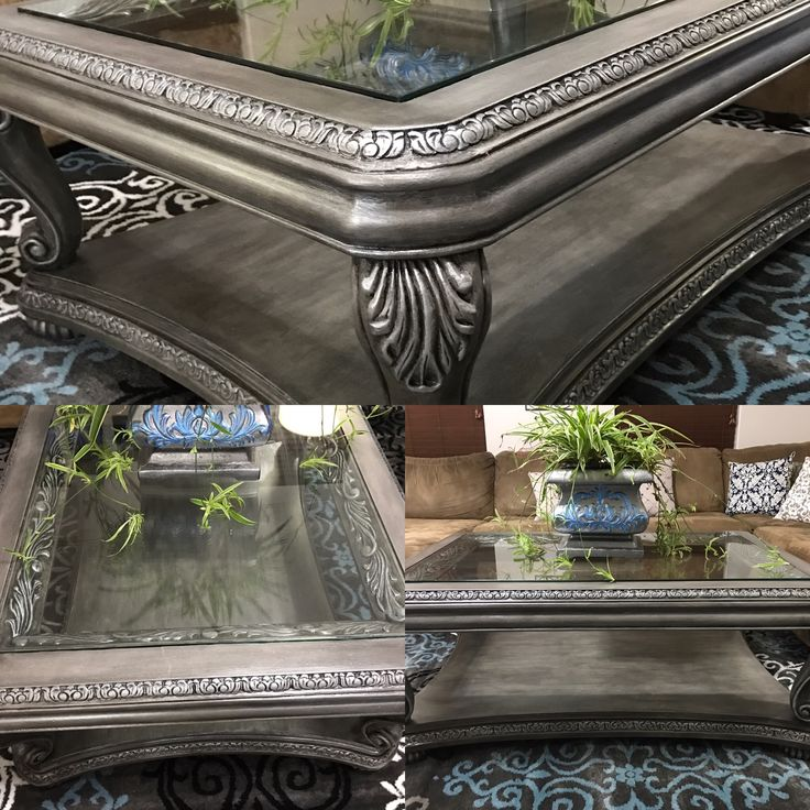 French Linen Chalk Paint Coffee Table: Coffee Table Finished With Annie Sloan French Linen, Black