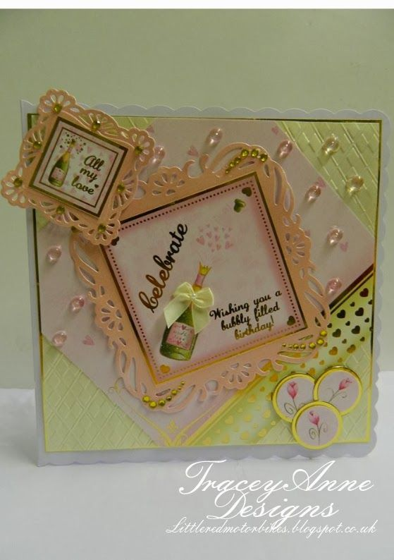 Tracey Anne Designs for Crafter's Companion - love and romance hunkydory kit