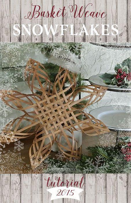 DIY Basket Weave Snowflakes #RitDye