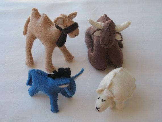 Darling Nativity Animals!