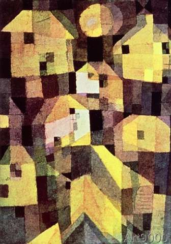 Paul Klee - Abstract Composition of Houses