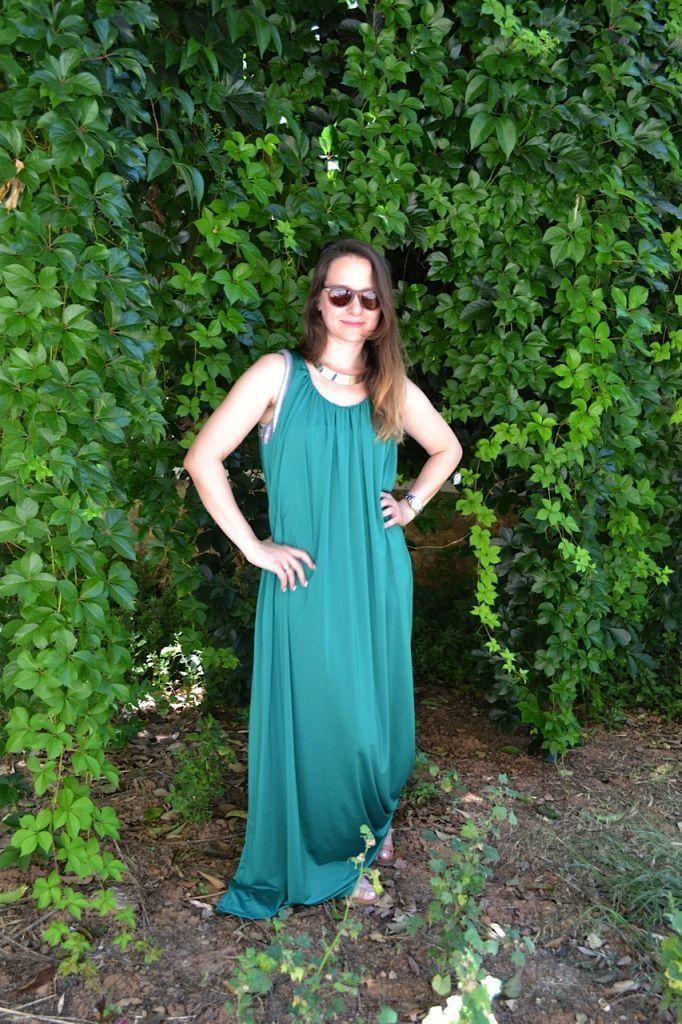 Maxi Grecian whiteDlight dress by Korina at Type my Style