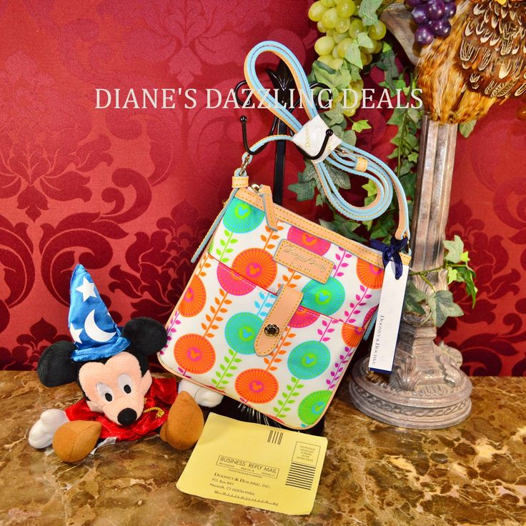 Dooney and Bourke Disney Daisy Letter Carrier / Crossbody Bag Mickey Mouse Cute