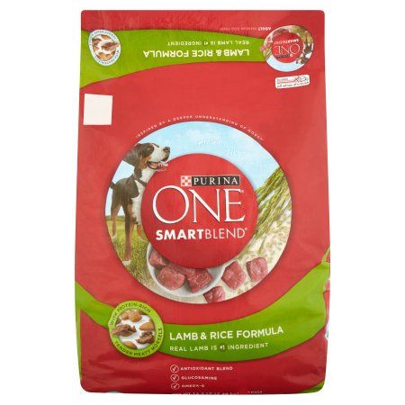 Purina ONE SmartBlend Lamb & Rice Formula Adult Premium Dog Food 16.5 lb. Bag, Multicolor