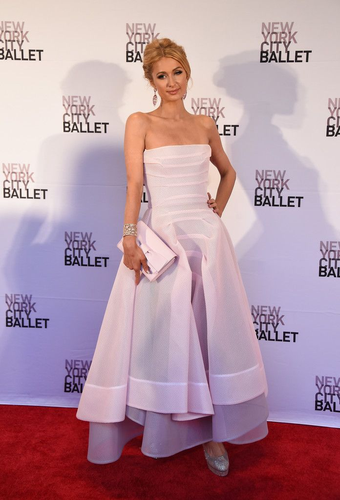 Paris Hilton Strapless Dress   Gowns, Pink gowns, White ...