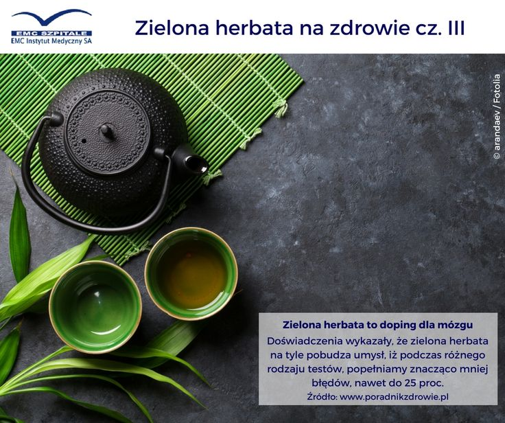 Zielona herbata jest superzdrowa, przekonujemy Was o tym od jakiegoś czasu :) Mamy kolejny argument by pić ją codziennie! #emc #emcszpitale