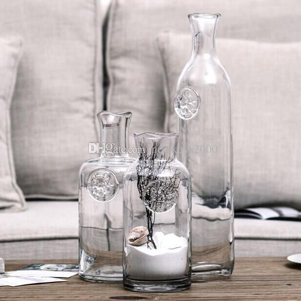 10 17 Tall Hot Sale Hand Blown Green Home Decoration Glass Vase Lead Free Bud Transparent Vase For Hotel Cafe Shop Bar Home Decorations Blue Vases Wholesale Bowl Vase From Newkeys2000, $33.88| Dhgate.Com