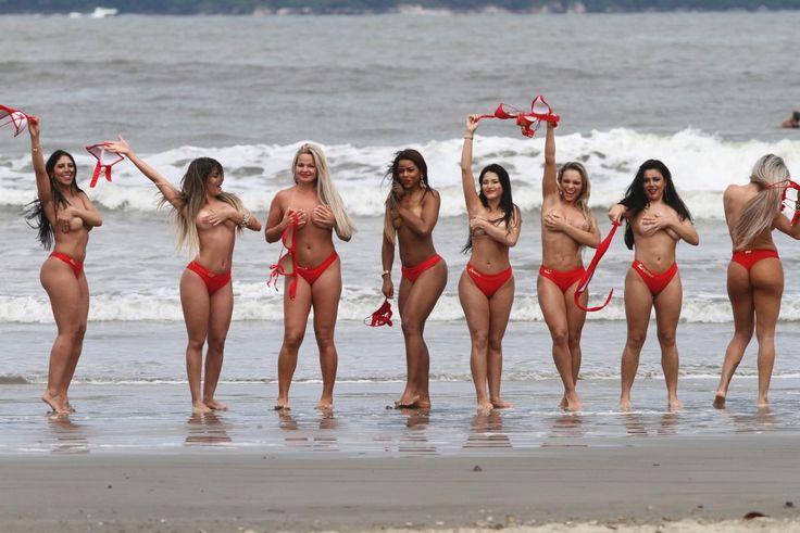 Women Taking Off Bikinis