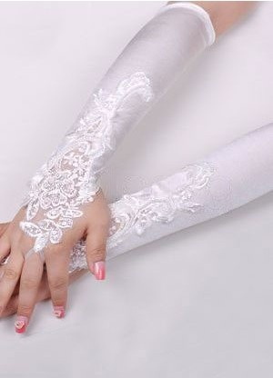 Ivory Lace Fingerless Wedding Gloves Accessories