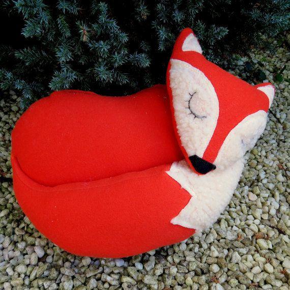 Orange fox. A snoozy fox doorstop. Fox by TheSherbetPatch
