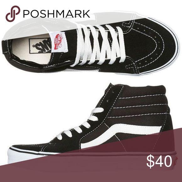 Black High Top Vans Price negotiable. Still in perfect condition, black old school high top vans. Vans Shoes Sneakers
