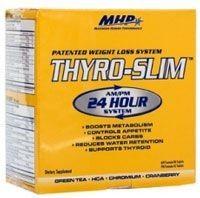Thyro Slim (Тиро Слим) 40 таблеток купить в Киеве. Доставка, гарантия, сервис! Thyro Slim (Тиро Слим) 40 таблеток от 383 грн: фото, отзывы, описания. Бесплатная доставка по Киеву при заказе от 300 грн. MHP THYRO-SLIM AM/PM - пищевая добавка для бодибиледров, которая имеет такие свойства: ускоряет процессы метаболизма; осуществляет непрерывное сжигание жира в течение 24 часов на протяжение 7 дней блокирует поступающие в организм углеводы и