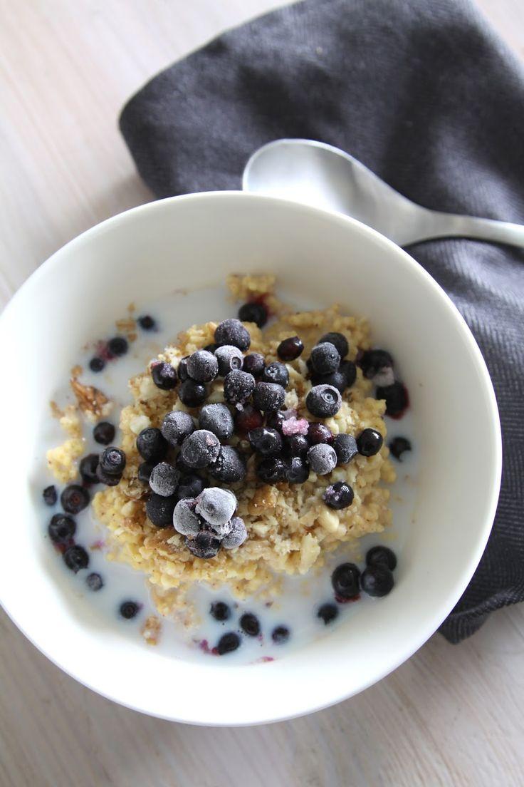 FODMAP// Vatsan vapaapäivä: Mustikkainen ja mantelinen hirssipuuro (gluteeniton)