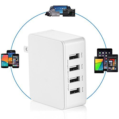 USB Charger 25W 4-Port USB Desktop Wall Charger Charging Station with Folding Plug for iPhone, iPad, Samsung Galaxy, Nexus, HTC, Motorola, LG and More - http://topcellulardeals.com/?product=usb-charger-25w-4-port-usb-desktop-wall-charger-charging-station-with-folding-plug-for-iphone-ipad-samsung-galaxy-nexus-htc-motorola-lg-and-more