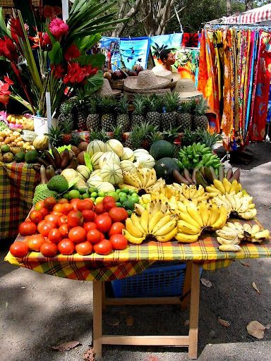 Marché Ste Marie, Martinique - beautiful Caribbean island.  ASPEN CREEK TRAVEL - karen@aspencreektravel.com
