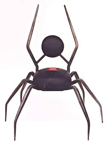 Black Widow Spider Chair -- Definitely another chair for my lair.  LOL.