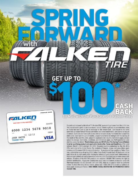 Falken tire rebate for your greatest driving