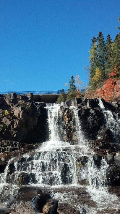 Gooseberry Falls Duluth, Minnesota.  Visited Oct.25, 2014, definitely even better than the pictures.
