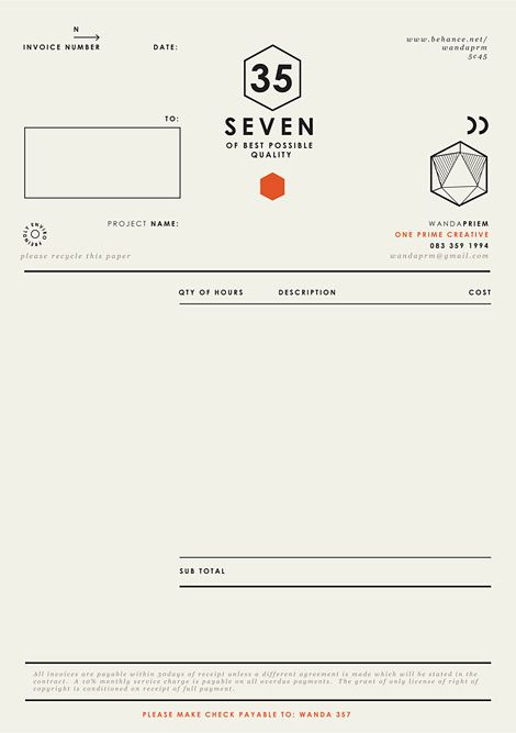Receipts And Payments Account Format  Best Invoice  Fax Images On Pinterest  Invoice Design  Receipt Of Letter with How To Keep Track Of Invoices Excel Invoices Self Promotion  Graphic Designer  By Wanda Priem Via Behance Tax Invoice Rules