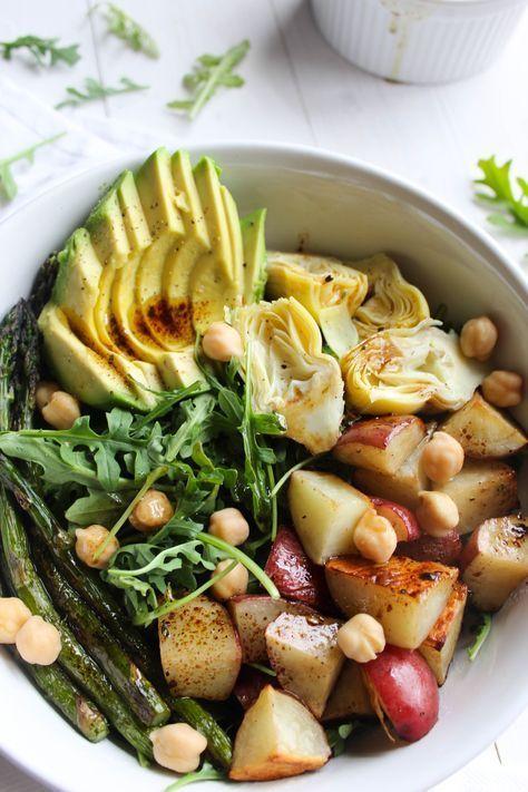 Balsamic Spring Vegetable Salad {vegan, gluten free} // http://pumpkinandpeanutbutter.com