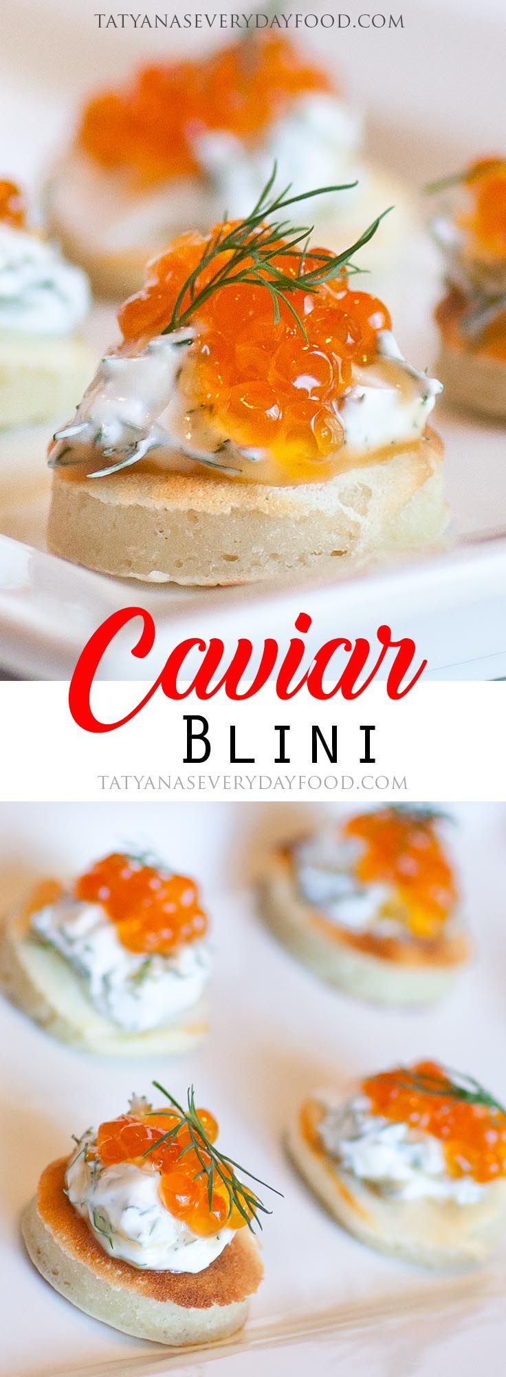 Russian Caviar Blini - Tatyanas Everyday Food