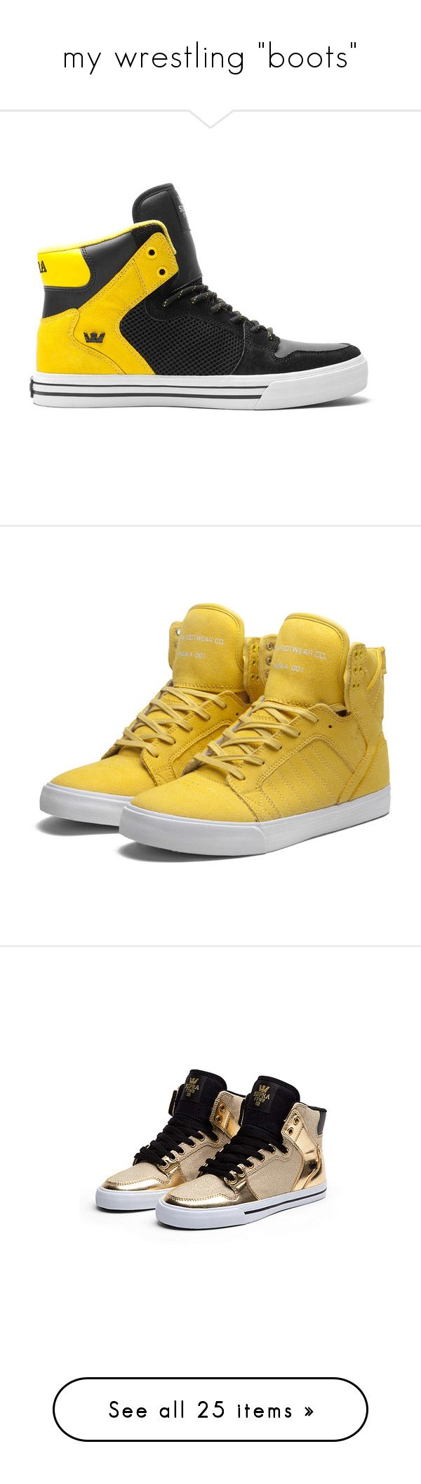 """""""my wrestling """"boots"""""""" by h3adphonez ❤ liked on Polyvore featuring shoes, sneakers, supra, mesh sneakers, mesh material shoes, high top shoes, supra sneakers, high-top sneakers, adidas and hi-tops"""