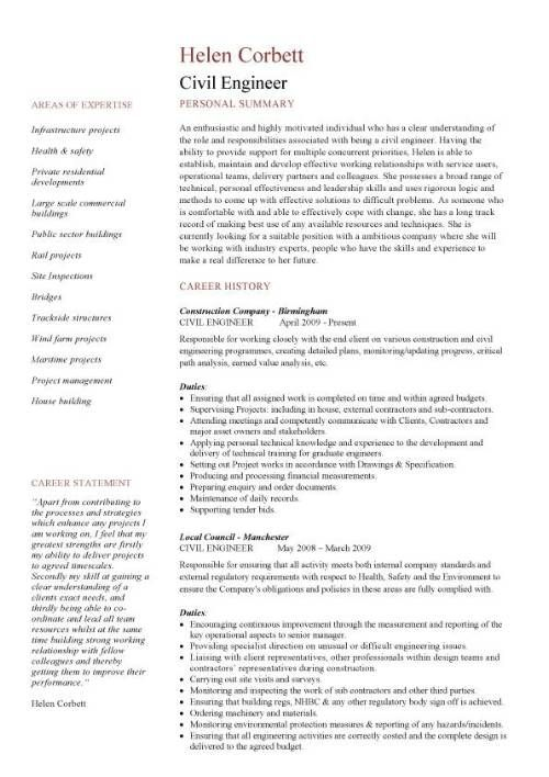 Civil Engineering CV template, structural engineer, Highway design, construction