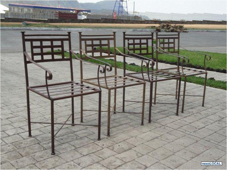 41 mejores im genes sobre muebles de hierro en pinterest for Modelos de sillas de hierro