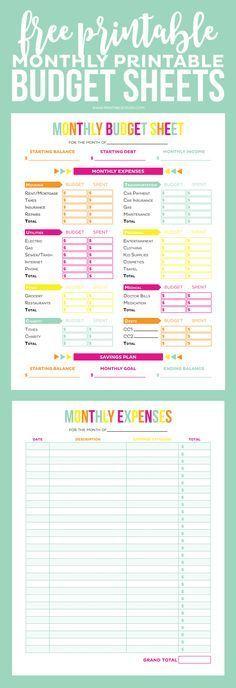 Best 25+ Monthly expense sheet ideas on Pinterest Monthly budget - printable expense sheet