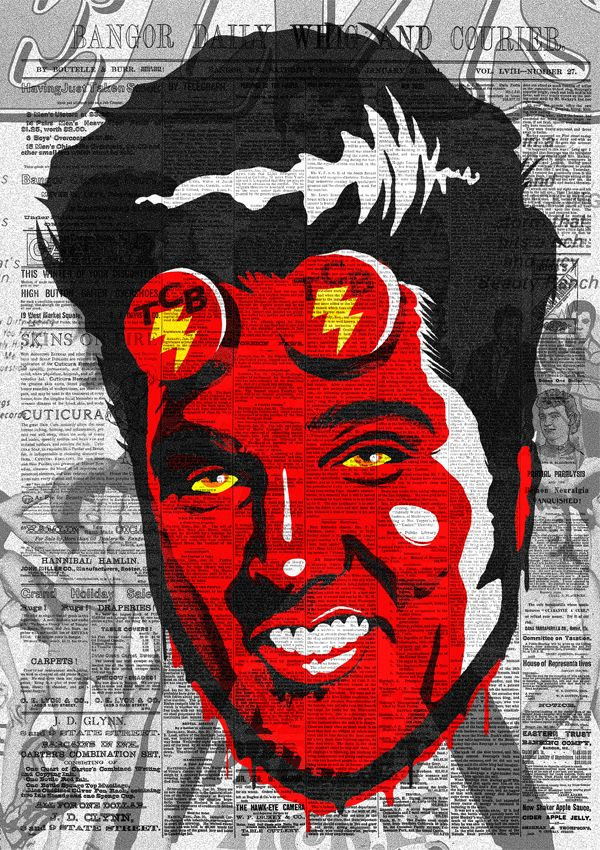Hellvis Boy and The TCB (Takin' Care of Bussiness) Band by Butcher Billy, via Behance