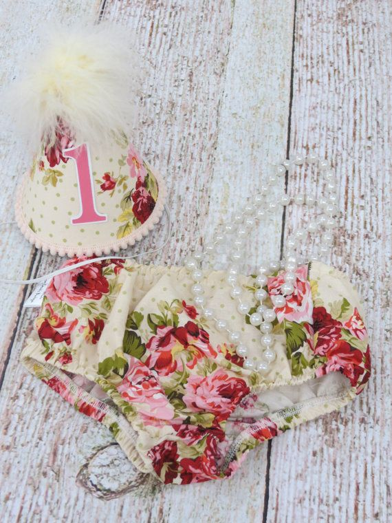 Girls First Birthday Cake Smash Outfit With by FuzzyCheeksBoutique
