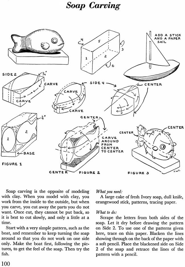 Dover Publications Sample: Soap Carving