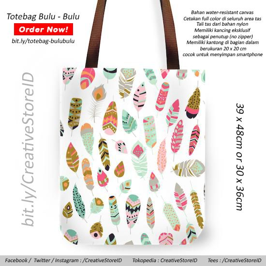 Bulu bulu Totebag - Tees Indonesia