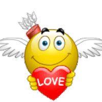 esküvő pirítós menyasszony vőlegény smiley hangulatjel animáció animált gif fotó: Ámor with Love Heart - animált smiley valentine emoticon amor animációs-animáció-amor-smiley.gif