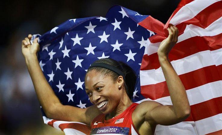 """L'américaine Allyson Felix a ébranlé l'hégémonie jamaïcaine sur le sprint mondial en remportant la finale du 200m en 21""""88"""