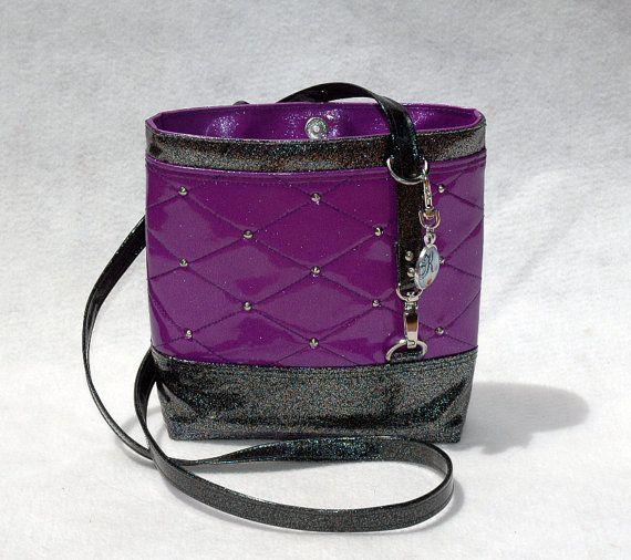 #SoKwaint #Purple & #Black #GlitterVinyl #CrossbodyBag by #KwaintAccessories on #ETSY #handmade #handbags #fashion #handcrafted #trending #perth #vegan #glittervinyl #handcrafted #supportsmallbusiness #smallbusiness #handbag #bags #perth #trending