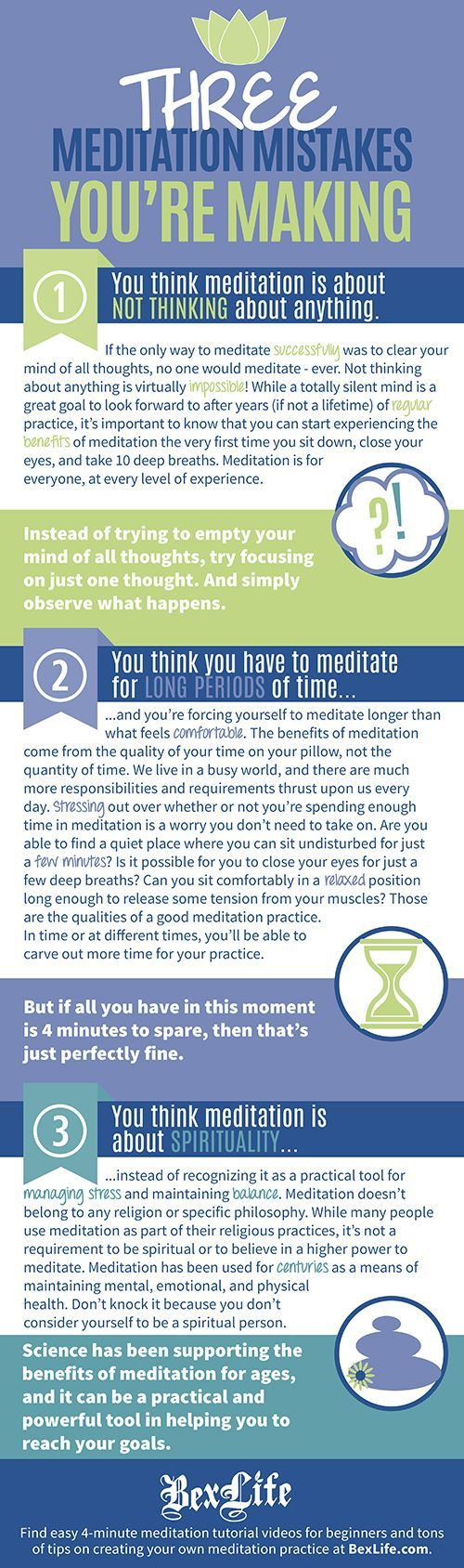 Meditation is more popular than ever, making its way into the mainstream more and more every day.  However, with its growing popularity comes pervasive and often discouraging myths surrounding what meditation is and how to practice it correctly.  I am here to tell you that any barriers between you and having a sustainable and valuable meditation practice are false. Meditation is for YOU!