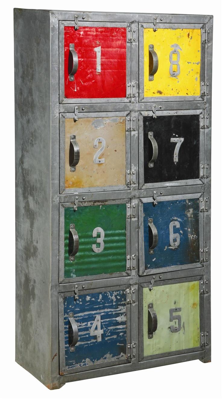 Technicolor Number Lockers