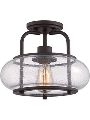 Trilogy Semi-Flush Mount Ceiling Light | House of Antique Hardware