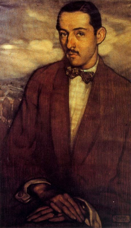Saturnino Herrán, 'Manuel Toussaint', 1917, óleo sobre lienzo. México / arte, pintura, latin art