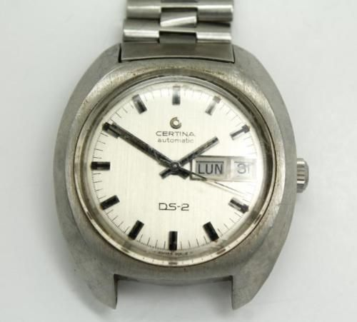 Vintage-20c-Certina-Automatic-DS-2-Stainless-Steel-Day-Date-Wristwatch